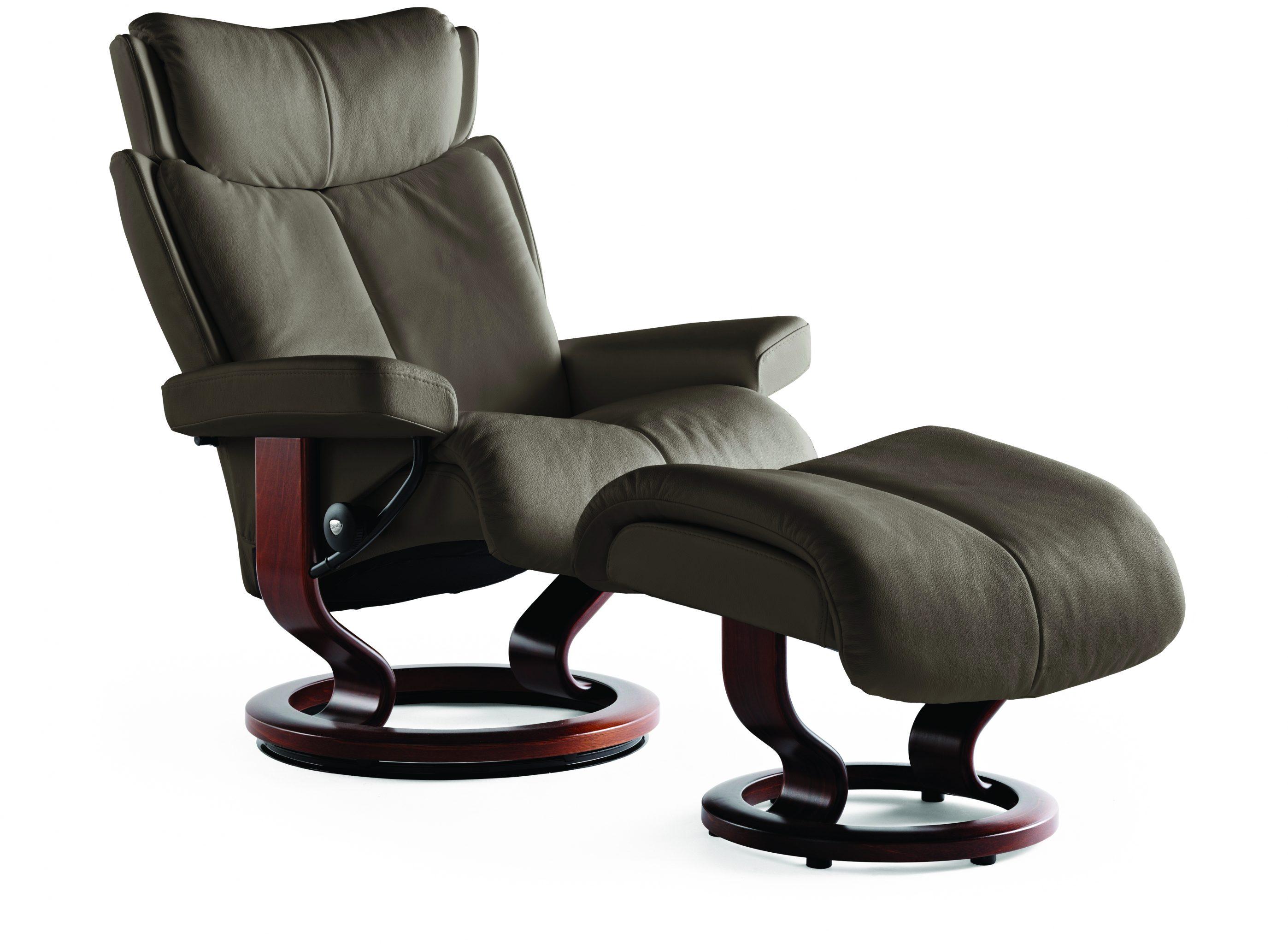 Stressless Magic Chair & Ottoman LaDiff