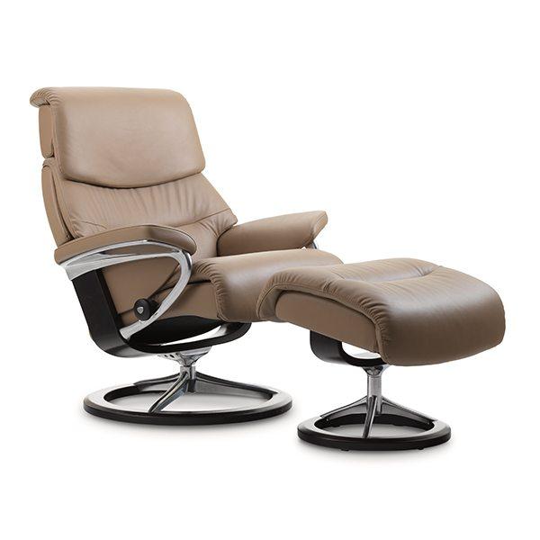 Stressless® Capri Chair & Ottoman