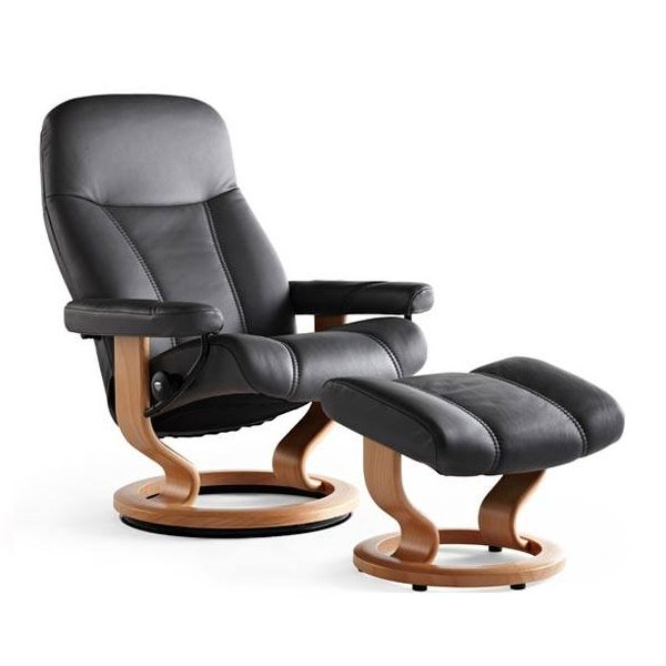 Stressless® Consul Chair & Ottoman