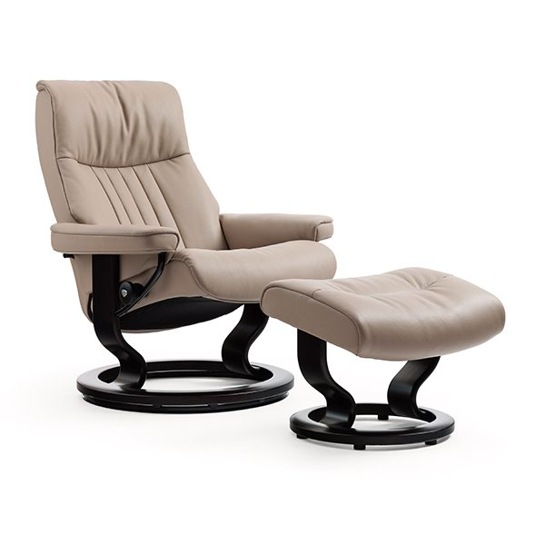 Stressless® Crown Chair & Ottoman