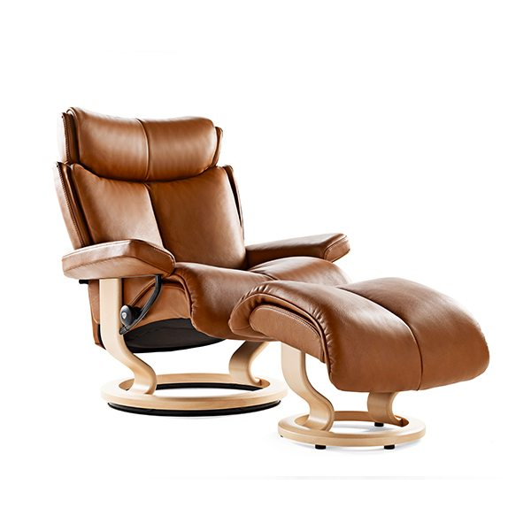 Stressless® Magic Chair & Ottoman