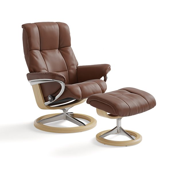 Stressless® Mayfair Chair & Ottoman