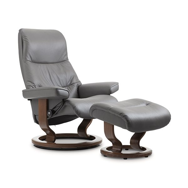 Stressless® View Chair & Ottoman