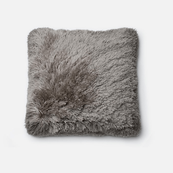 Thin Poly Shag Pillow