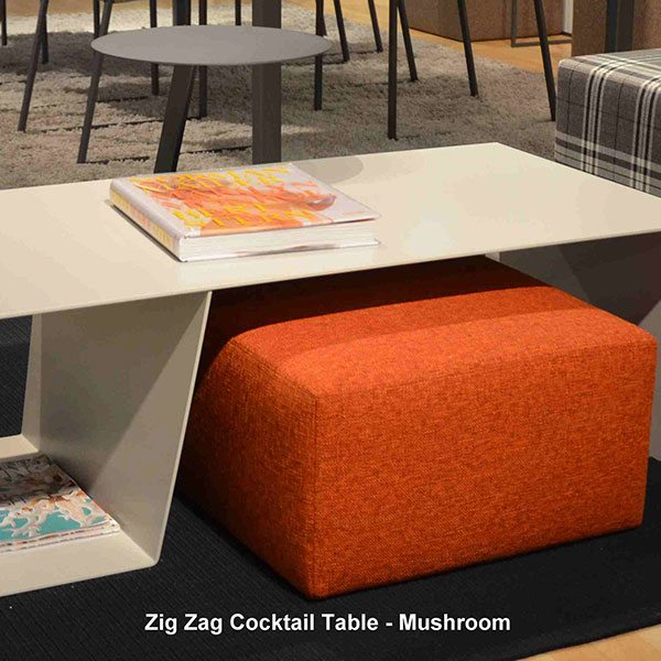 Trica Zigzag Cocktail Table