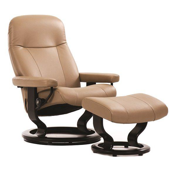 Stressless® Garda Chair & Ottoman