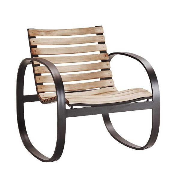 Parc Outdoor Rocker and Bench