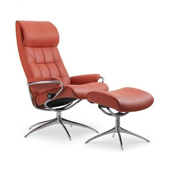 Stressless® London Chair & Ottoman