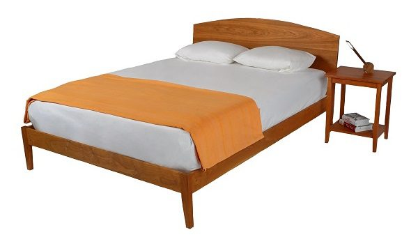 Elmira Curved Headboard Bed