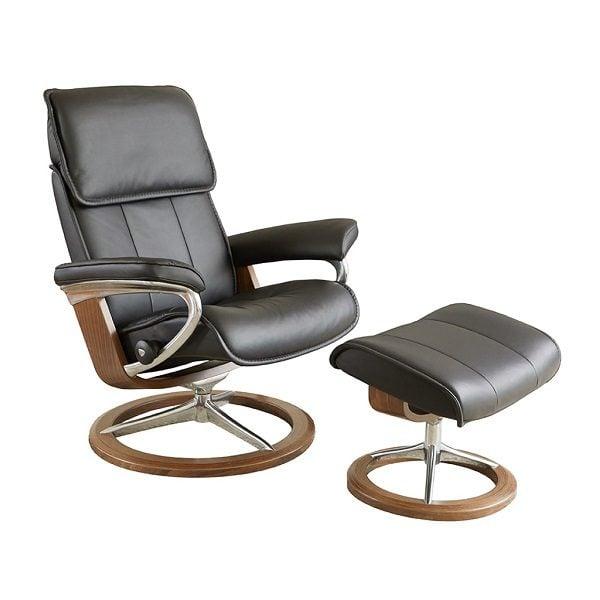Stressless® Admiral Chair & Ottoman