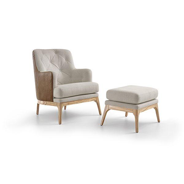Athos Chair & Ottoman