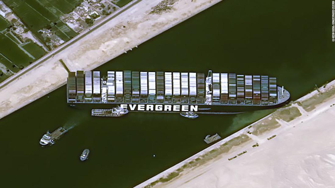 Super Sized Cargo ship courtesy of CNN