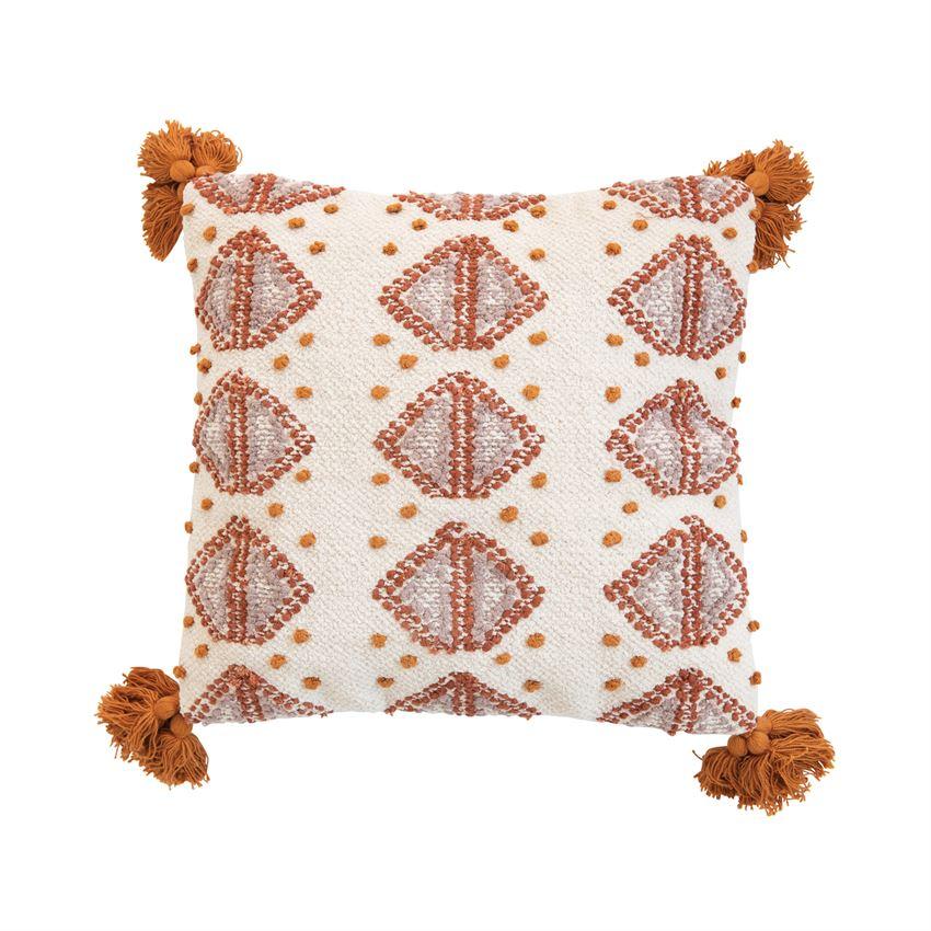 Diamond Tassel Pillow