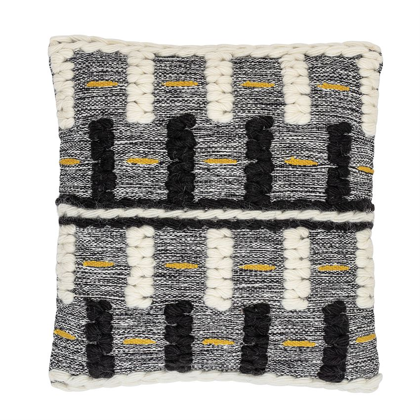 Grid Multi-Textured Pillow